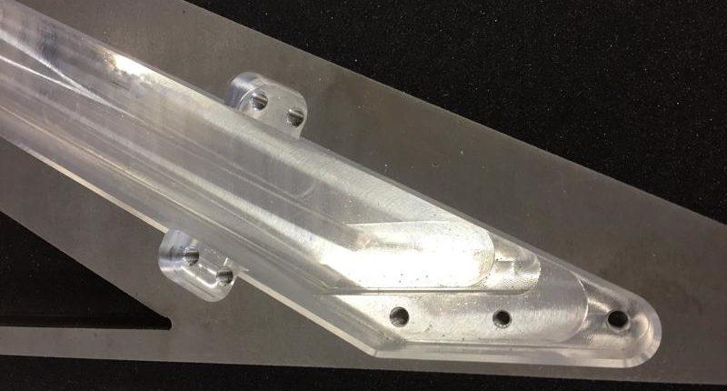 Fresatura e filettatura alluminio sp. 40mm