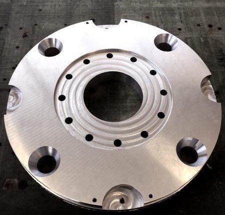 Alluminio fibral, Ø 600mm sp. 40mm, taglio, fresatura 3D