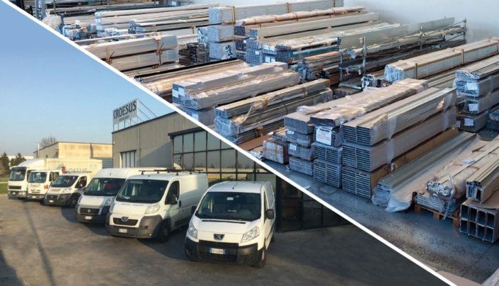 Gestione magazzino clienti, logistica-trasporti per trattamenti e servizi complementari con propri mezzi